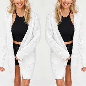 Sweaters - PEYTON Softest knit cardigan - WHITE